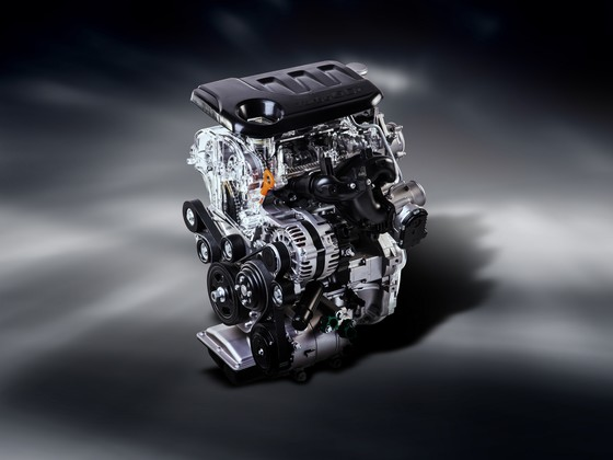 Kia's new 1.0-liter turbocharged three-cylinder 'Kappa' engine