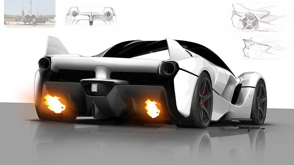 Ferrari FXX K rear design