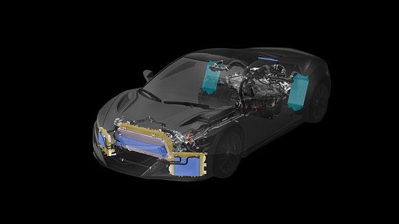 NSX Total Airflow Management, Powertrain & Heat Exchangers