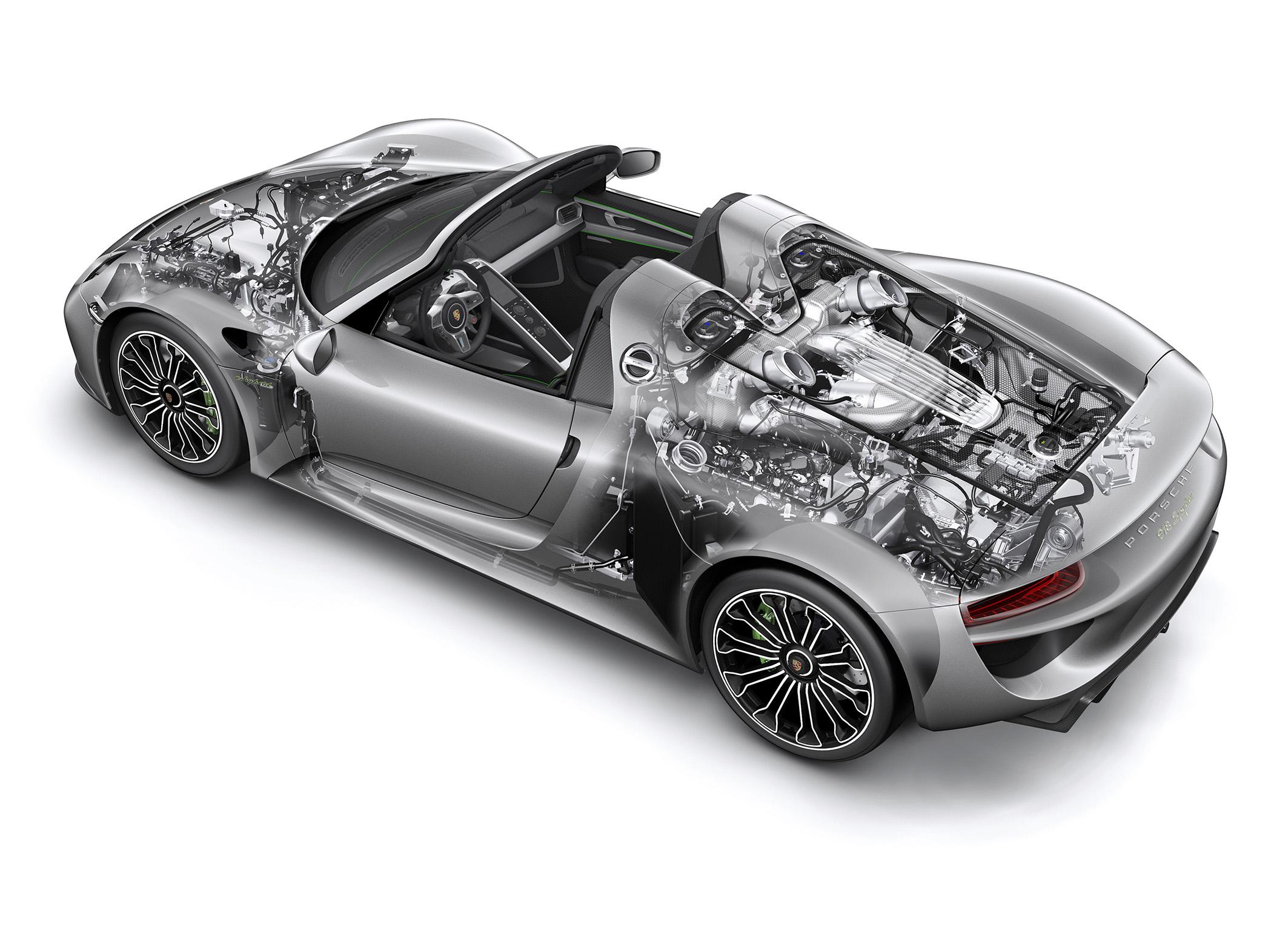 Porsche 918 Spyder : vue fantôme