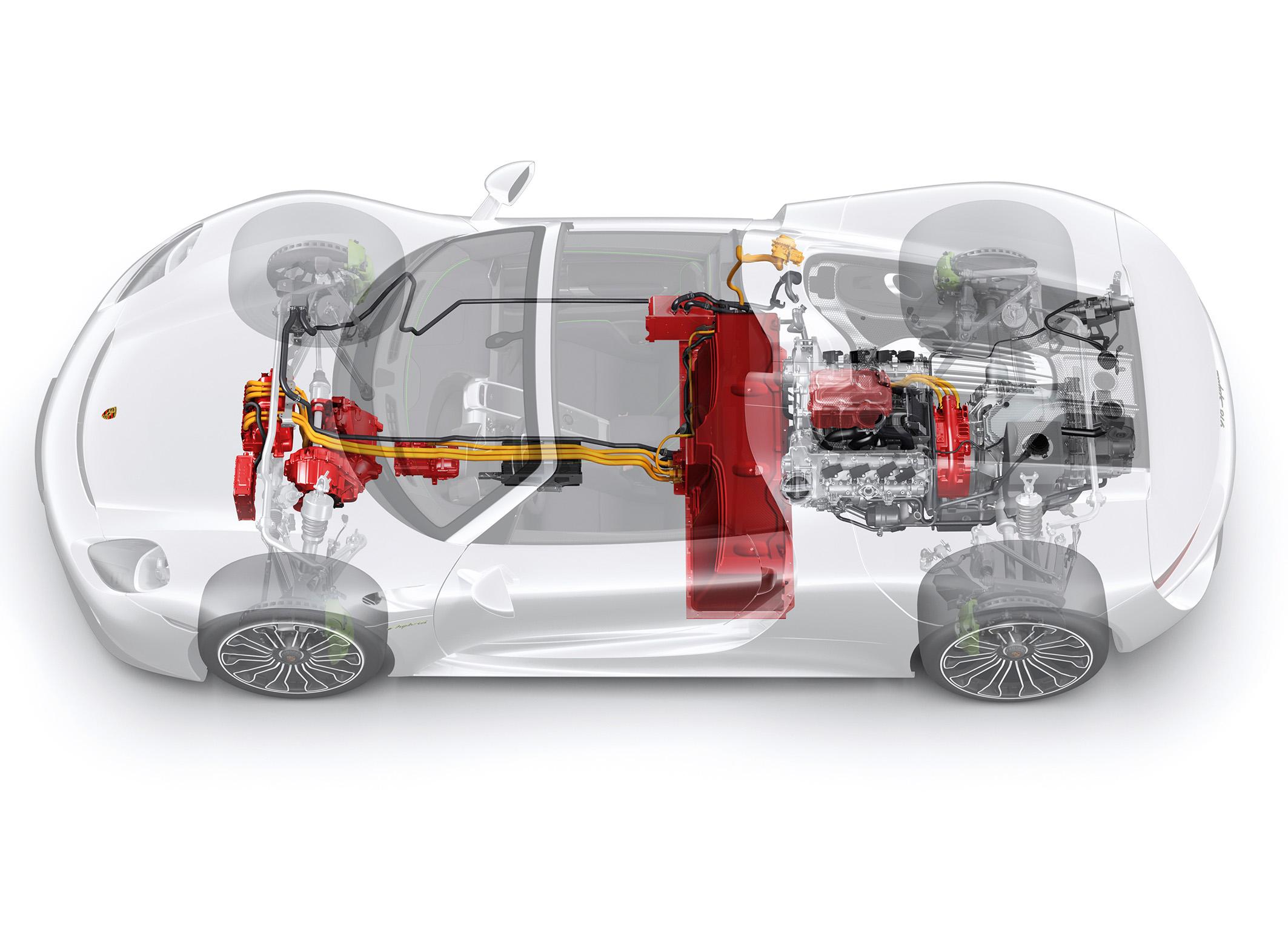 Porsche 918 Spyder Plug-in hybrid components