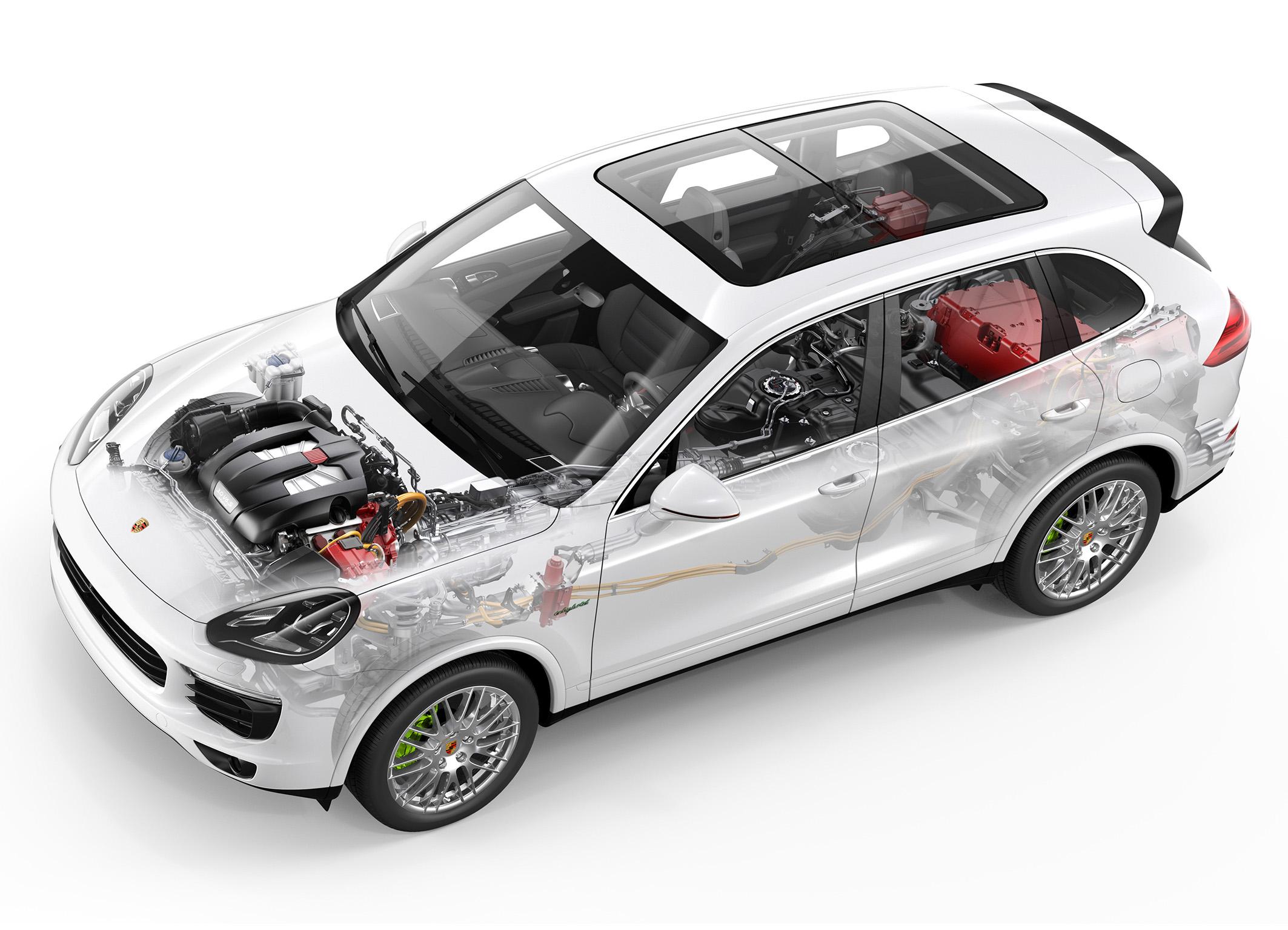 Porsche Cayenne S E-Hybrid : vue fantôme