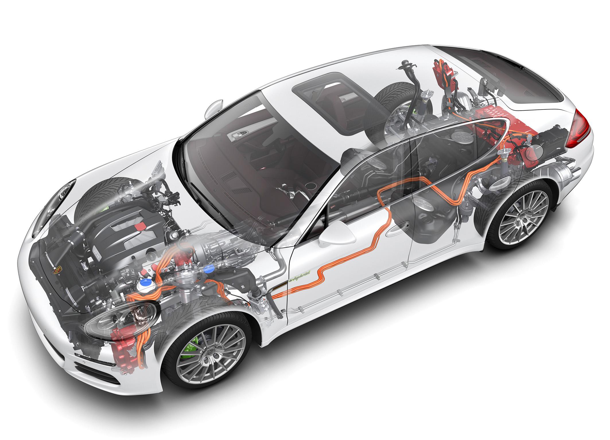 Porsche Panamera S E-Hybrid : vue fantôme