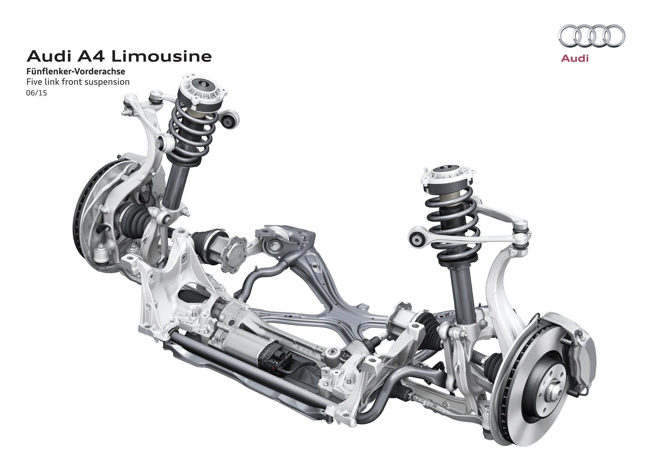 Audi A4 Five link front suspension