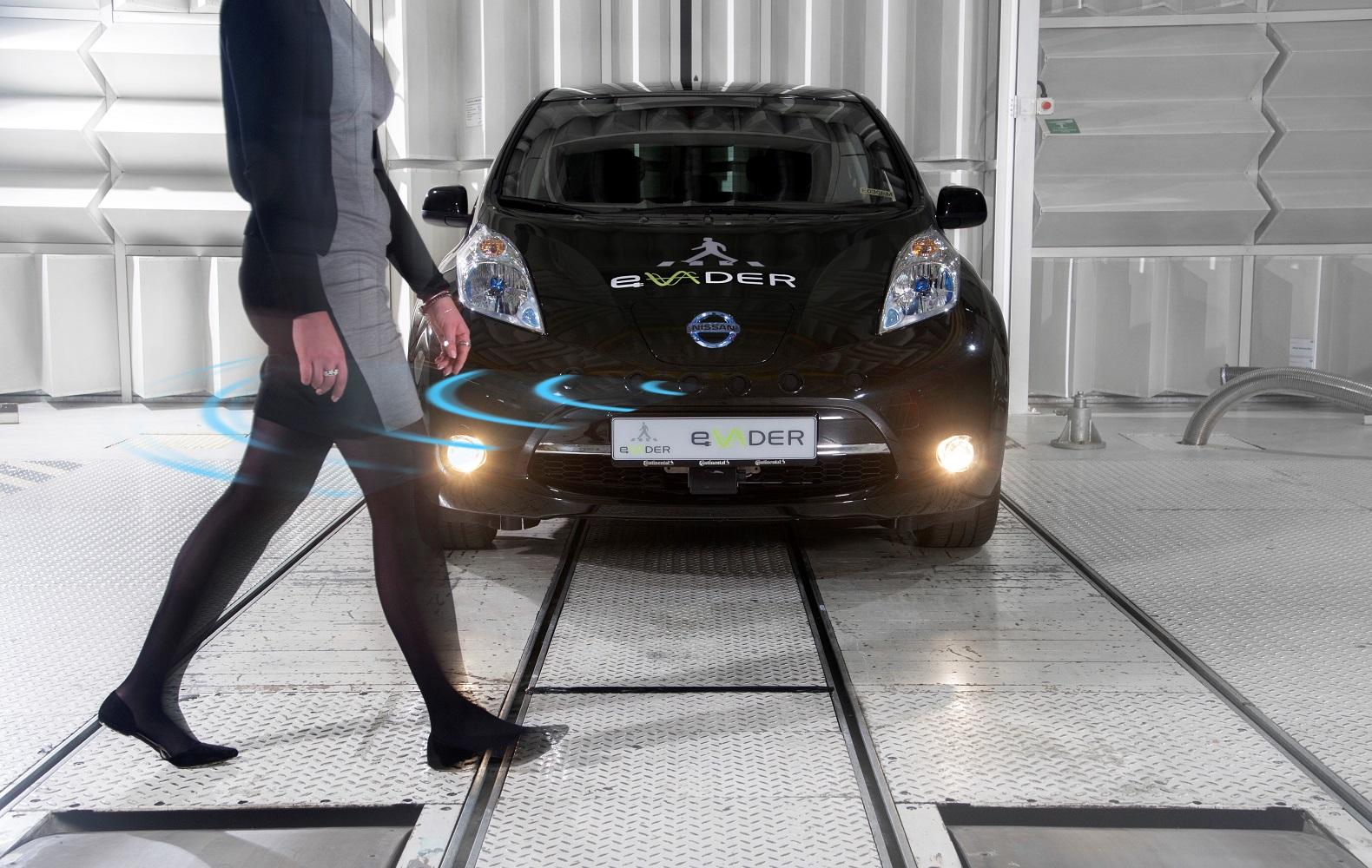 Nissan a apporté son expertise des VEs au projet eVADER d'alerte des piétons