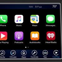 Uconnect_Apple carplay interface