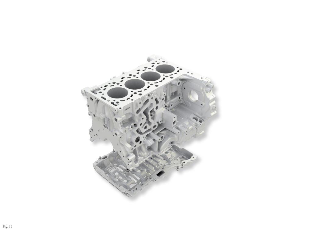 Aluminum engine block of OM 654