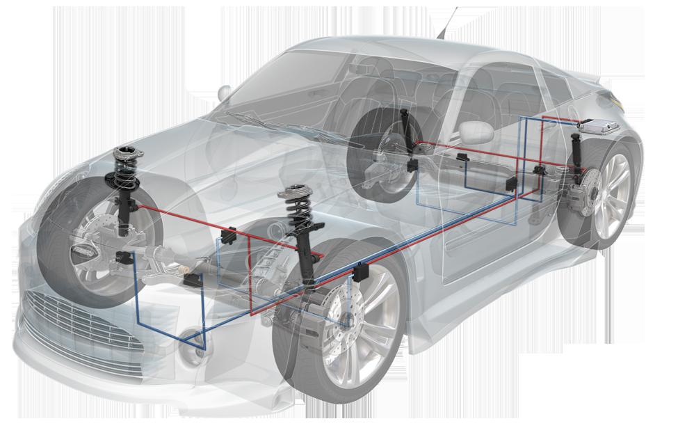 Monroe CVSAe system on a car