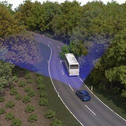 Evasive Steering Assist uses radar and a camera to detect slower moving and stationary vehicles ahead, and provides steering support to enable drivers to avoid a vehicle if a collision is imminent.