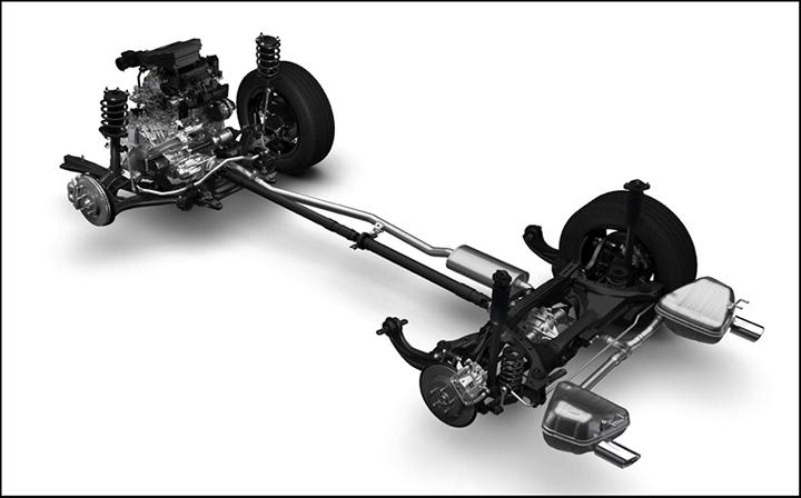 Châssis de la Honda CR-V