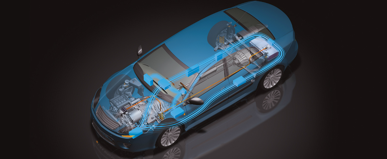 ISO 26262 - illustration d'un véhicule hybride par <em>HORIBA MIRA ltd</em>