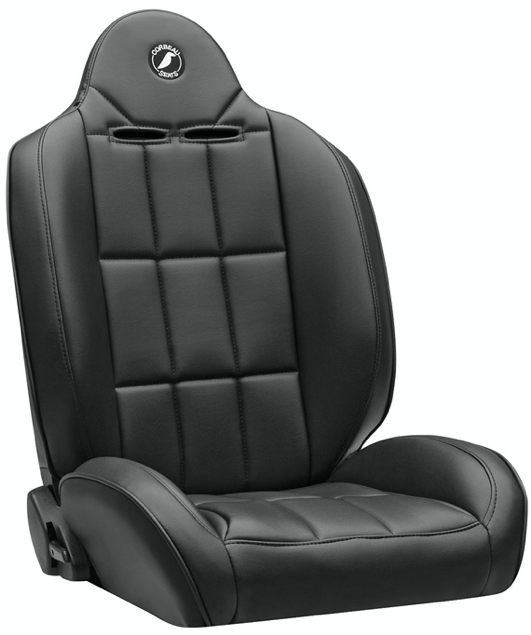A black leather chairDescription automatically generated