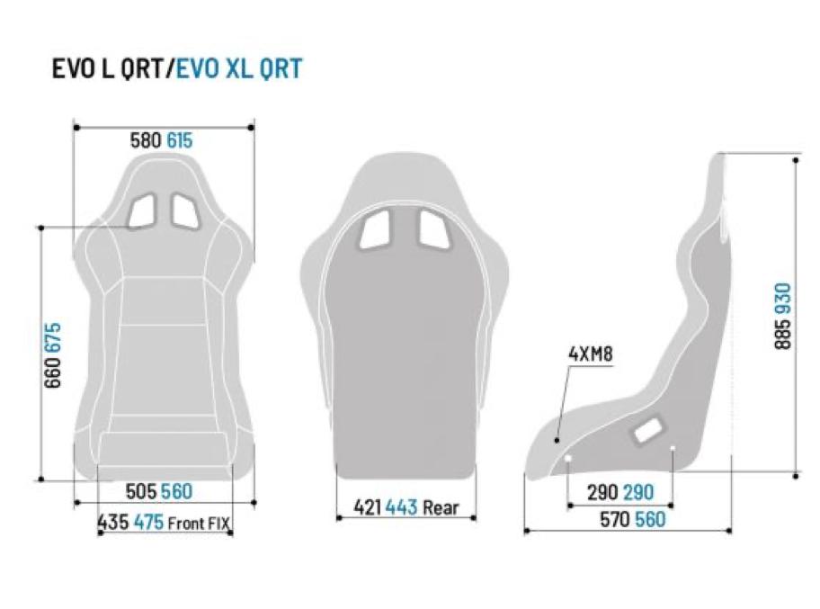 Buy Sparco Evo / Evo : / Evo XL QRT Fibreglass Seat | Demon Tweeks
