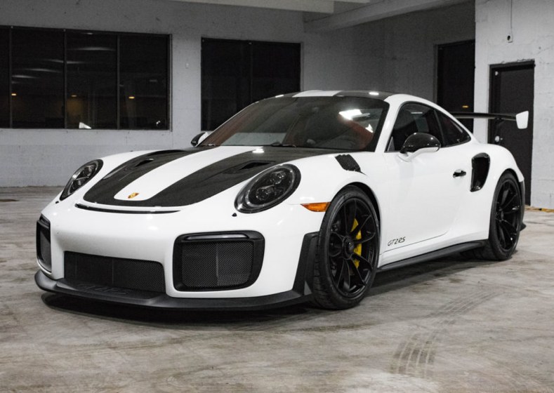 151-Mile 2018 Porsche GT2 RS Weissach Package for sale on BaT ...