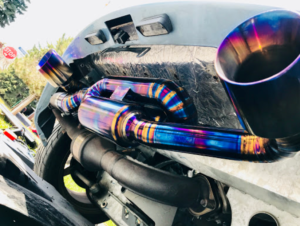 titanium exhaust systems multi color tips and piping tubes
