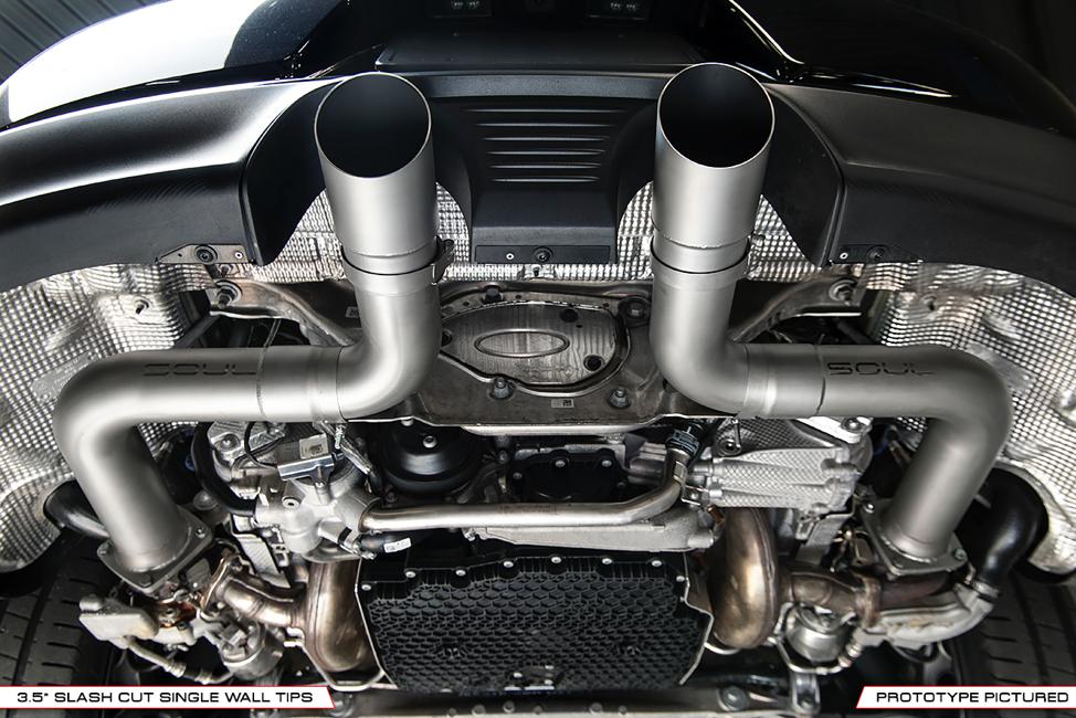 Porsche 991.2 Carrera (with PSE) Trackback Turbo Back Exhaust ...
