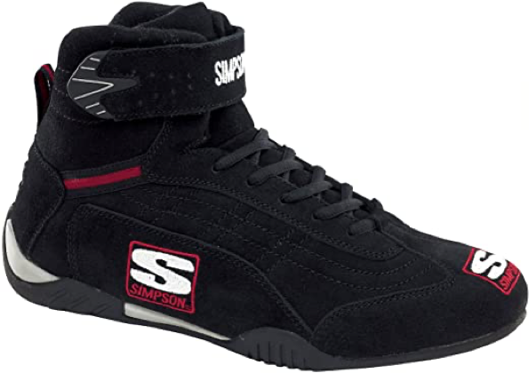 Simpson Racing AD950BK Adrenaline Black Size 9-1/2 SFI Approved Driving Shoes